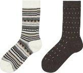 Uniqlo Women Heattech Socks 2p (Fairisle)