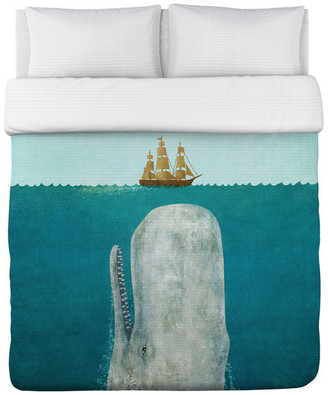 One Bella Casa The Whale, Multi Lightweight Full Queen Duvet Cover