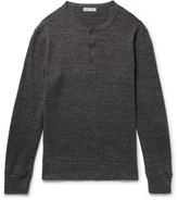 Alex Mill Waffle-Knit Mélange Cotton Henley T-Shirt