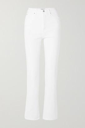 Eve Denim Juliette High-rise Straight-leg Jeans - White