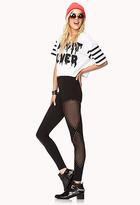 Forever 21 Studded Out Mesh Leggings