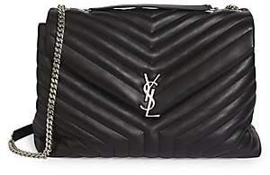 Saint Laurent Women's Large Loulou Matelassé Leather Shoulder Bag