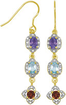 SPARKLE ALLURE Sparkle Allure Multi Color Abalone Drop Earrings