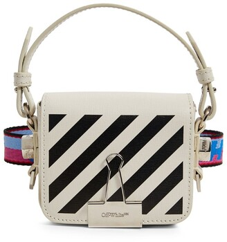 Off-White Baby Leather Diagonals Flap Bag