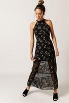 Azalea Floral Halter Maxi Dress