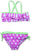 Hula Star Purple & Green Bubble Stripe Bikini - Toddler