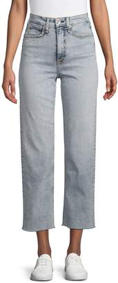 Rag & Bone Button-Front Cropped Jeans