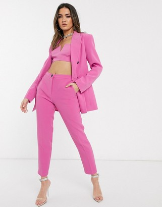 Asos DESIGN pop slim suit pants in pink