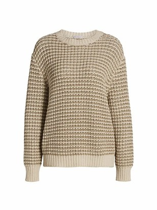 Brunello Cucinelli Lurex Striped Wool Cashmere-Blend Sweater