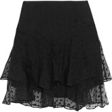 Isabel Marant Vadim tiered embroidered organza mini skirt