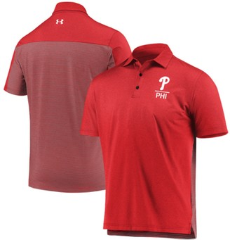 Men's Under Armour Red Philadelphia Phillies Novelty Performance Polo