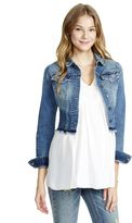 Motherhood Maternity Jessica Simpson Frayed Hem Denim Maternity Jacket