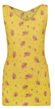 Dorothy Perkins Womens Maternity Yellow Floral Print Knot Vest, Yellow
