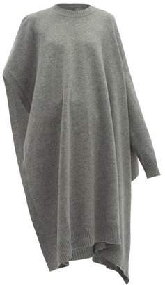 Maison Margiela Single-sleeve Wool Poncho - Womens - Grey