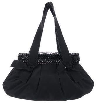 Prada Embellished Tessuto Handle Bag