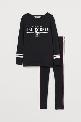 H&M Sweatshirt and Leggings - Black