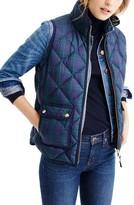J.Crew Petite Women's Black Watch Excursion Quilted Vest
