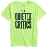Under Armour Toddler Boy's Quiet The Critics Heatgear T-Shirt