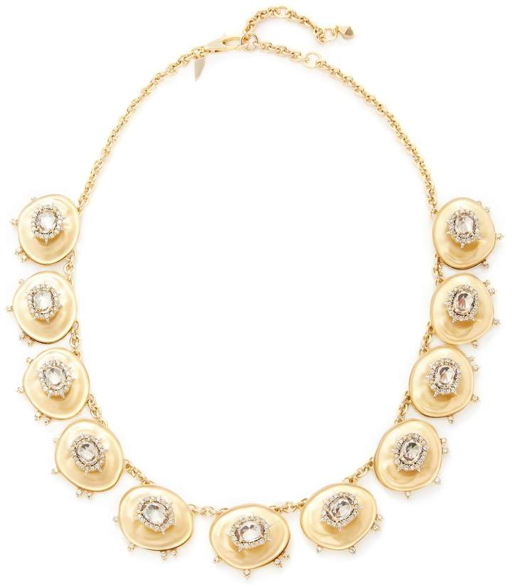 Alexis Bittar Women's Lucite Crystal Stone Liquid Silk Bib Statement Necklace