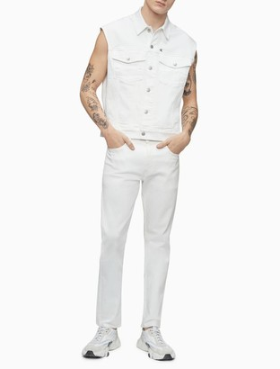 Calvin Klein Pride Monogram Logo Sleeveless Denim Vest