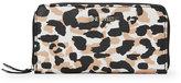 Nine West Black & Camel Aby Leopard Zip Wallet