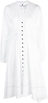 Proenza Schouler White Label Cut-Out Pouf-Sleeve Dress