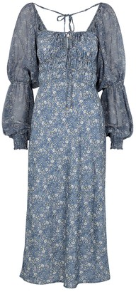 Free People Aglow Floral-print Midi Dress