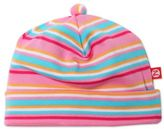 Zutano Size 6M Striped Cap in Pink