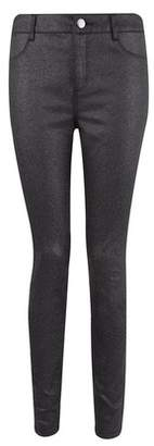 Dorothy Perkins Womens Black Glitter 'Frankie' Super Skinny Jeans, Black