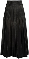 Alexander McQueen Contrast-stitch pleated midi skirt
