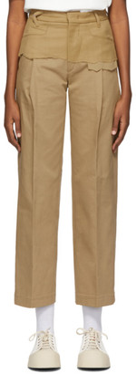 Ader Error Tan Twofold Trousers