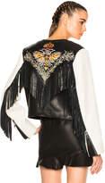 Etoile Isabel Marant Kirk Embroidered Bubble Leather Jacket