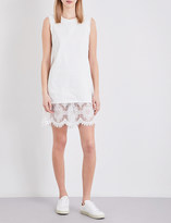 McQ by Alexander McQueen Lace panel denim dress