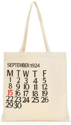 Saks Fifth Avenue Five-Day Calendar Canvas Tote Bag
