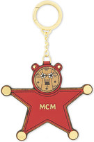 MCM Bear and star leather keyring