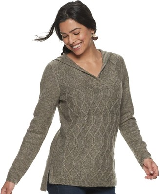 Sonoma Goods For Life Petite Hooded Knit Sweater