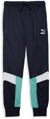 Puma Boy's Colorblock Logo Jogger Pants