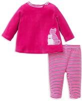 Offspring Infant Girls' Cat Velour Tunic & Leggings Set - Sizes 3-9 Months