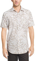 Van Heusen Short Sleeve White Washed Button-Front Shirt