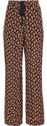 Diane von Furstenberg Veronica Printed Silk-crepe Wide-leg Pants