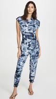 Rebecca Taylor Sleeveless Tie Dye Jumpsuit
