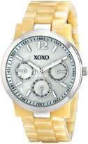 XOXO Women's XO5511 Horn Color Bracelet with Silver Case Watch