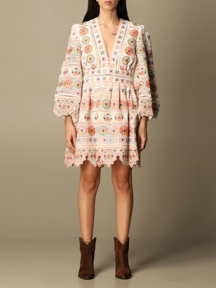 Zimmermann Short Embroidered Dress