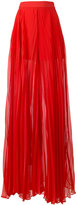 Elie Saab pleated wide palazzo pants