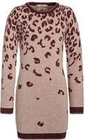 Scotch R'Belle LEOPARD Jumper dress bordeaux