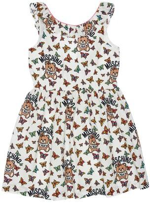 Moschino All Over Print Cotton Poplin Dress