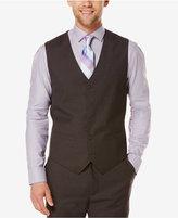 Perry Ellis Men's Tonal Micro-Check Vest