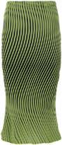 Issey Miyake optical illusion striped skirt