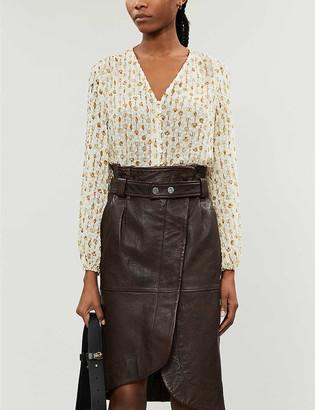 Rixo Mila shell-print devor? blouse