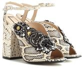 N°21 Althea 110 printed leather sandals